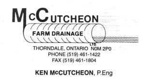 McCutcheon Farm Drainage Ltd.