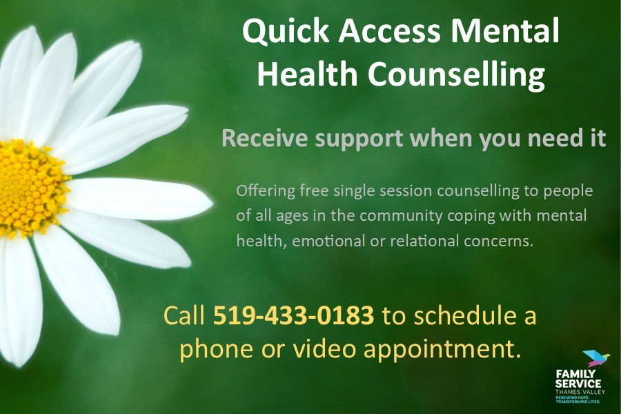 Quick Access Mental Health Counselling