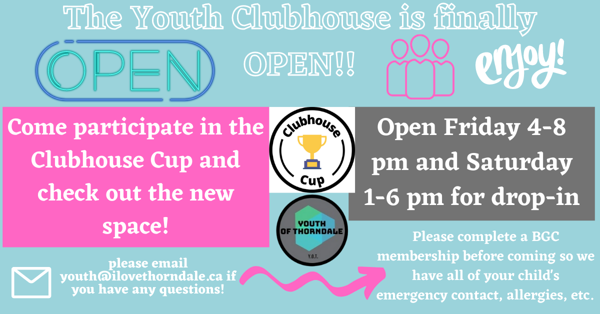 Youth Clubhouse is Open
